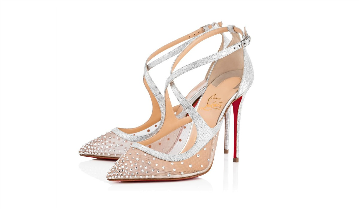 christian louboutin twistissimastrass wedding shoes