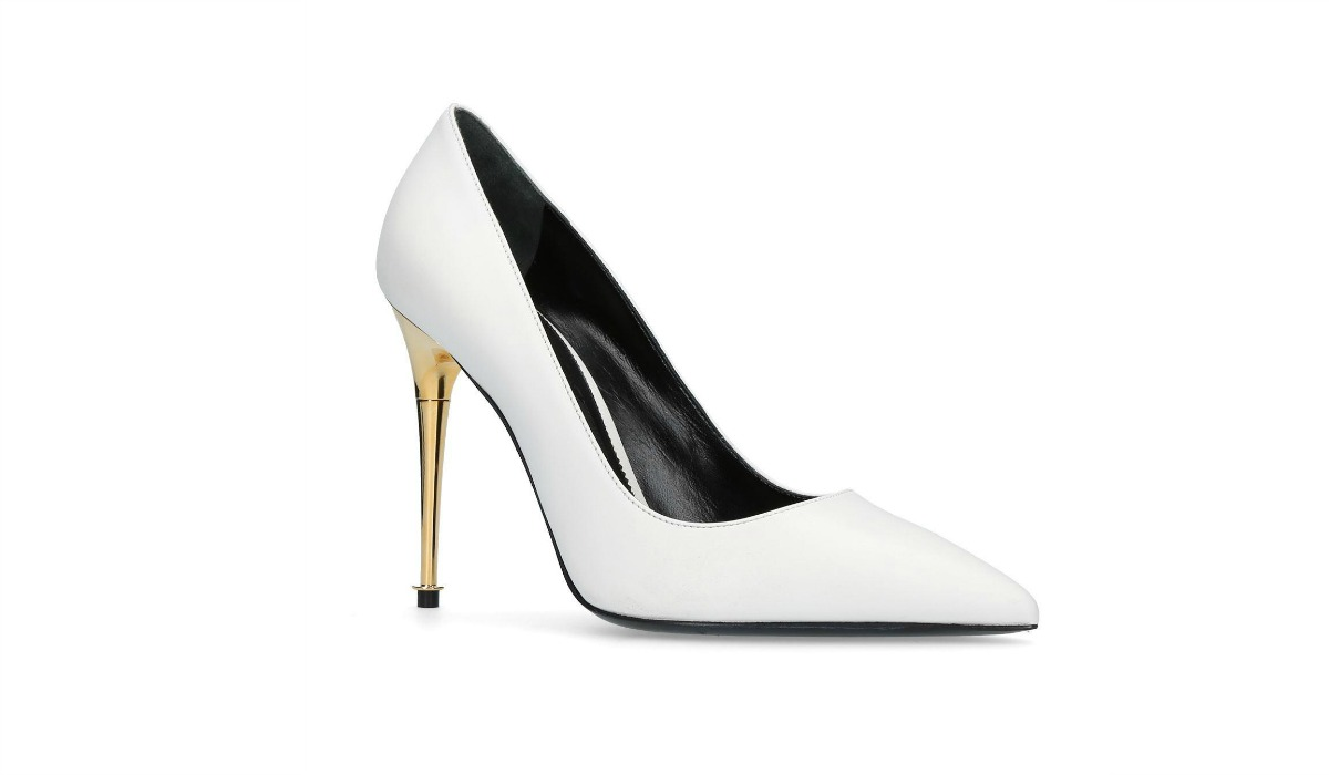 Tom Ford White Leather Wedding Shoes